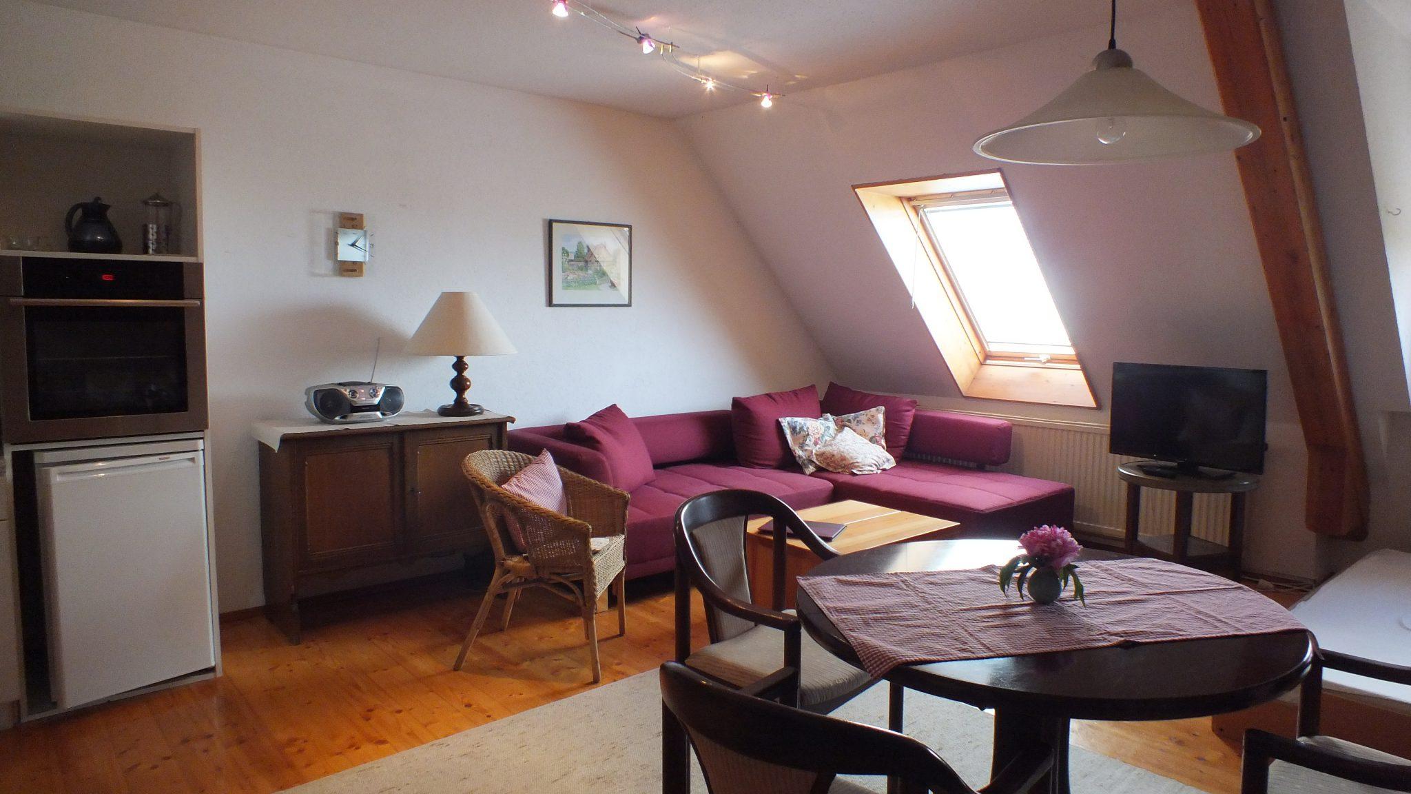 Wohnzimmer in der Wohnung Riedblick